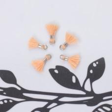 Mini chwosty w srebrnym okuciu brzoskwiniowy 10mm