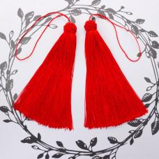 Chwosty z czapeczką ozdobną czerwony 15cm