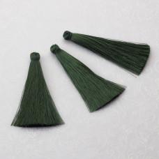 Chwost z wiskozy ciemny zielony 65mm