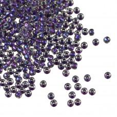Koraliki TOHO Round 11/0 Inside-Color Rainbow Crystal/Metallic Purple Lined