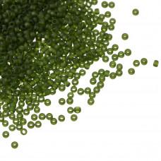 Koraliki TOHO Round 15/0 Transparent-Frosted Olivine