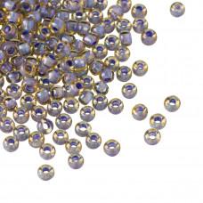 Koraliki TOHO Round 8/0 Inside-Color  Lt Topaz/Opaque Lavender Lined