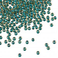 Koraliki TOHO Round 11/0 Inside-Color Jonquil/Turquoise Lined