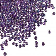 Koraliki TOHO Round 11/0 Inside-Color  Rainbow Crystal/Grape Lined