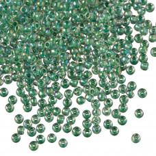 Koraliki TOHO Round 11/0 Inside-Color Rainbow Crystal/Shamrock Lined