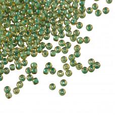 Koraliki TOHO Round 11/0 Inside-Color Topaz/Mint Julep Lined