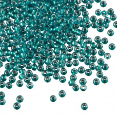 Koraliki TOHO Round 11/0 Inside-Color  Lt Sapphire/Metallic Teal Lined