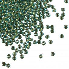 Koraliki TOHO Round 11/0 Inside-Color Aqua/Gold Lined