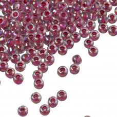 Koraliki TOHO Round 8/0 Inside-Color Rainbow Crystal/Strawberry Lined