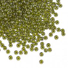 Koraliki TOHO Round 11/0 Gold-Lustered Green Tea