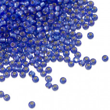 Koraliki TOHO Round 11/0 Silver-Lined Frosted Rainbow Sapphire