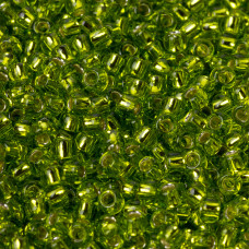 Koraliki TOHO Round 8/0 Silver-Lined Lime Green