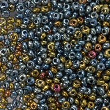 Koraliki TOHO Magatama 3mm Galvanized Blue Gold