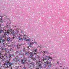 Koraliki TOHO Magatama 3mm Trans-Rainbow Ballerina Pink