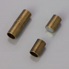 Zapięcie magnetyczne rurki kolor antyczny 6mm