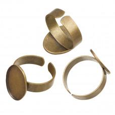 Baza pierścionka do wklejania kaboszonów antyczna 14x19mm