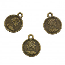 Zawieszka moneta 12x15mm