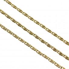 Łańcuch antyczny figaro 9x5,5mm