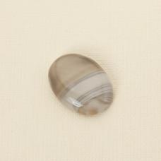 Krzemień pasiasty kaboszon owal 33x24 mm