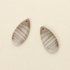 Krzemień pasiasty komplet do kolczyków 32x15 mm