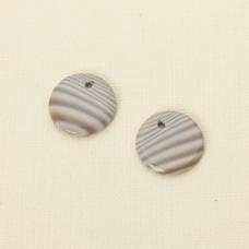 Krzemień pasiasty komplet do kolczyków 20 mm