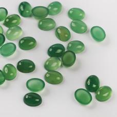 Agat zielony kaboszon owal 9,5-10,5mm