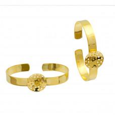 Baza bransoletki w kolorze złota sitko 60mm
