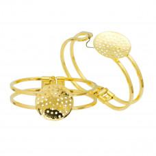 Baza bransoletki w kolorze złota zapinana z sitkiem 60mm