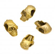 Koralik czacha kolor złoty 20mm