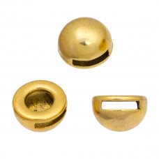 Koralik półkole duże kolor złoty 13mm