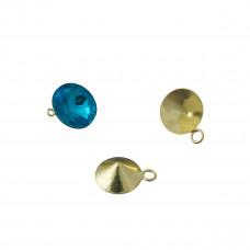 Baza do rivoli z jednym oczkiem kolor złoty 10mm
