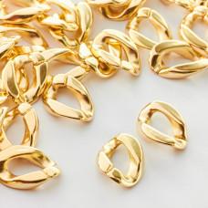 Ogniwo łańcucha akrylowe złote 18x13mm