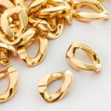 Ogniwo łańcucha akrylowe złote 22x16mm