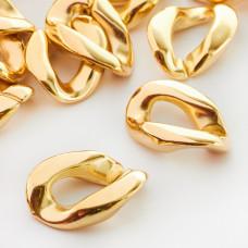 Ogniwo łańcucha akrylowe złote 28x20mm