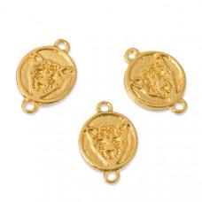 Przekładka gepart tłoczony real gold color 2 dziurki 19x13mm