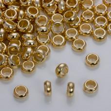 Gładka przekładka w złotym kolorze 10mm