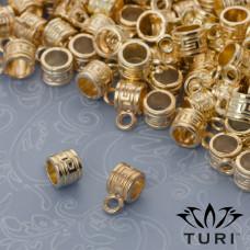 Krawatka do rzemieni z labiryntem w kolorze złotym 4.5mm