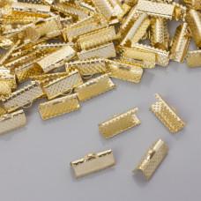 Końcówki zaciskowe szczęki w złotym kolorze 16x6mm