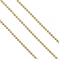 Łańcuch złote kulki cięte 1,2mm