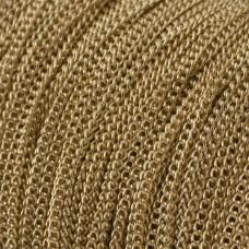 Łańcuszek simple drobny real gold color 1,6x1mm
