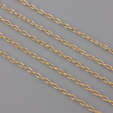 Łańcuszek simple real gold color 1mm