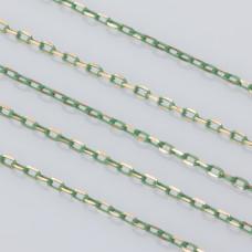 Łańcuszek ankier platerowany 3x2mm seledynowy