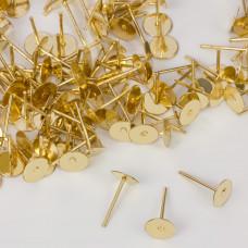 Sztyfty talerzyki w kolorze złotym 6mm