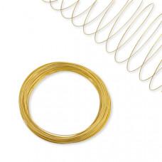 Drut pamięciowy nickiel free na bransoletkę złoty 6cm