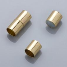 Zapięcie magnetyczne rurki w kolorze złotym 20x8mm