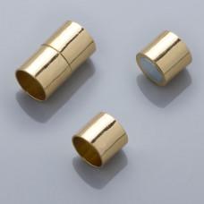 Zapięcie magnetyczne rurki w kolorze złotym 26x10mm
