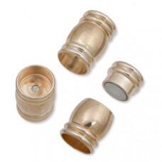 Zapięcie magnetyczne beczułki w kolorze rose gold 18x10mm