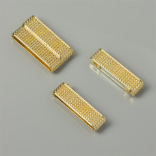 Zapięcie magnetyczne szerokie w kolorze złotym 38x20mm