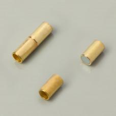 Zapięcie magnetyczne rurki koloru złotego 4mm
