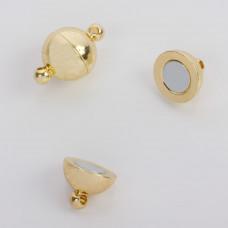 Zapięcie magnetyczne kulka złote 10mm
